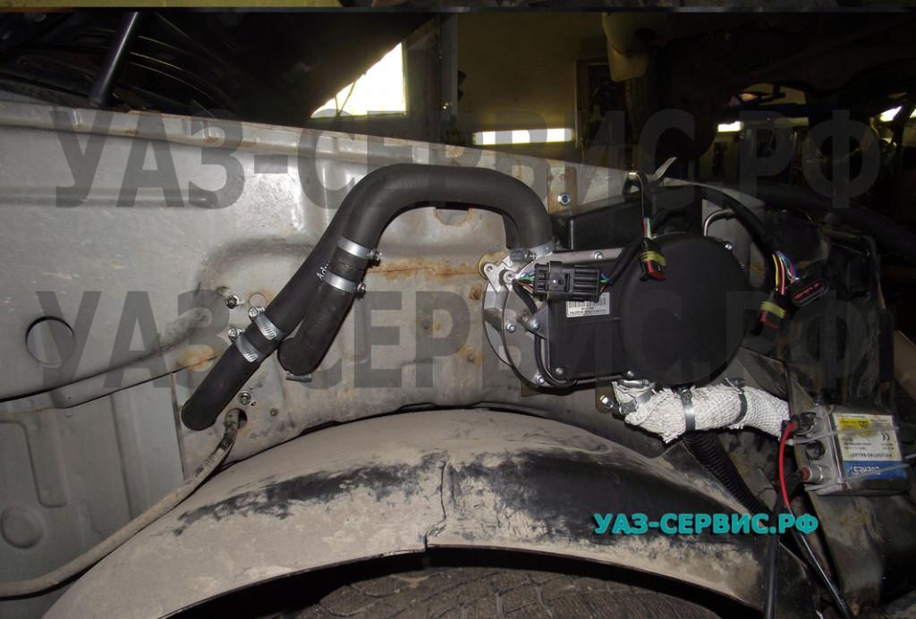 Автономный обогреватель установка