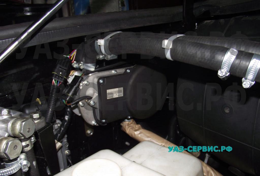 Автономный обогреватель на УАЗ Патриот установка