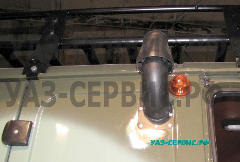 Шноркель на УАЗ собственного производства