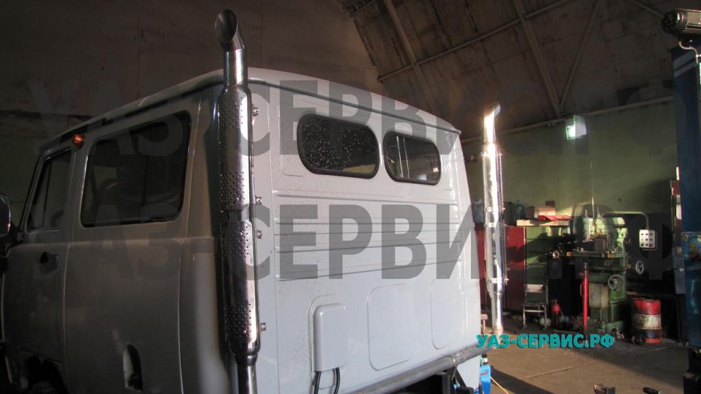 Система выпуска отработанных газов на УАЗ нержавейка
