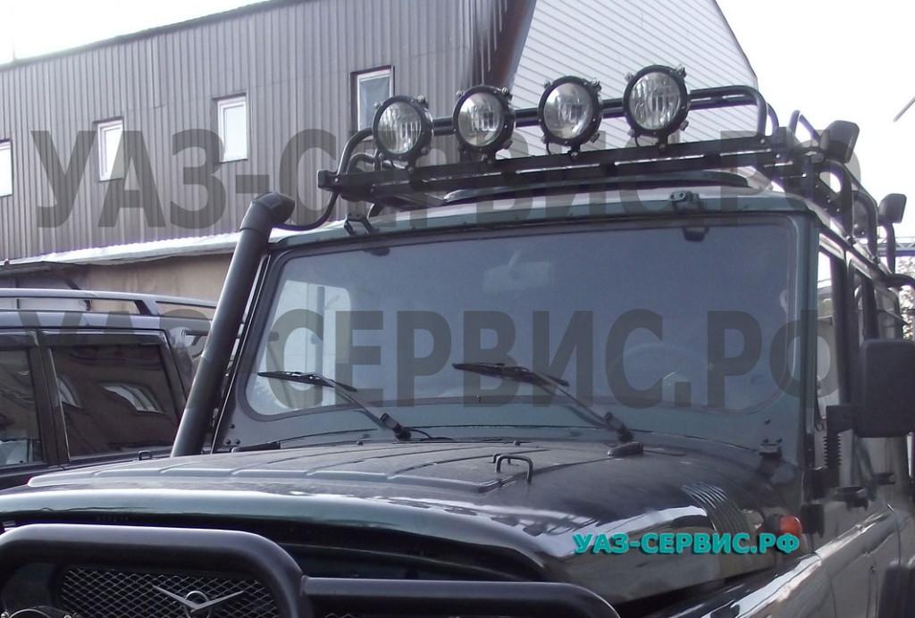 Танковые фары на УАЗ Дополнительное освещение на УАЗ